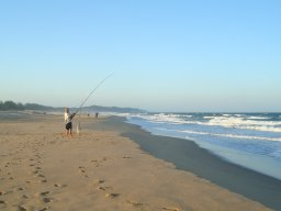 Fishing at Estuary Beach